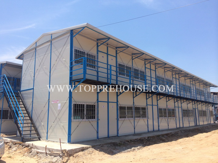 Modern sandwich panel modular house project has been finished