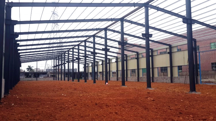 Steel structure workshop in Algeria